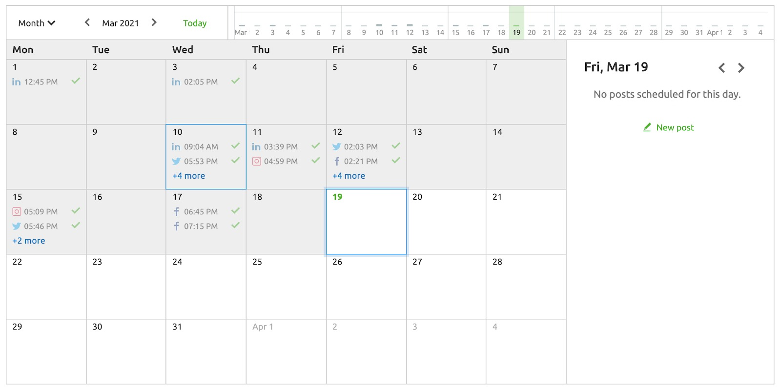 Planning Your Posts in an Interactive Calendar image 9