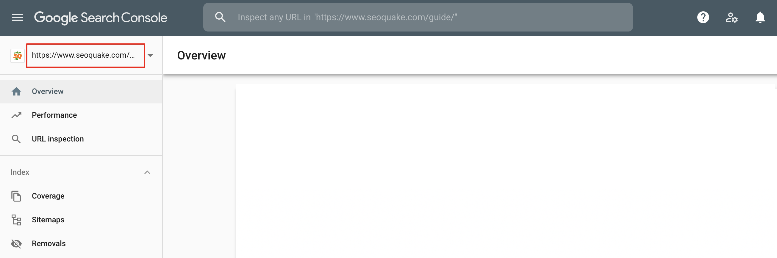 Google Search Console property's url