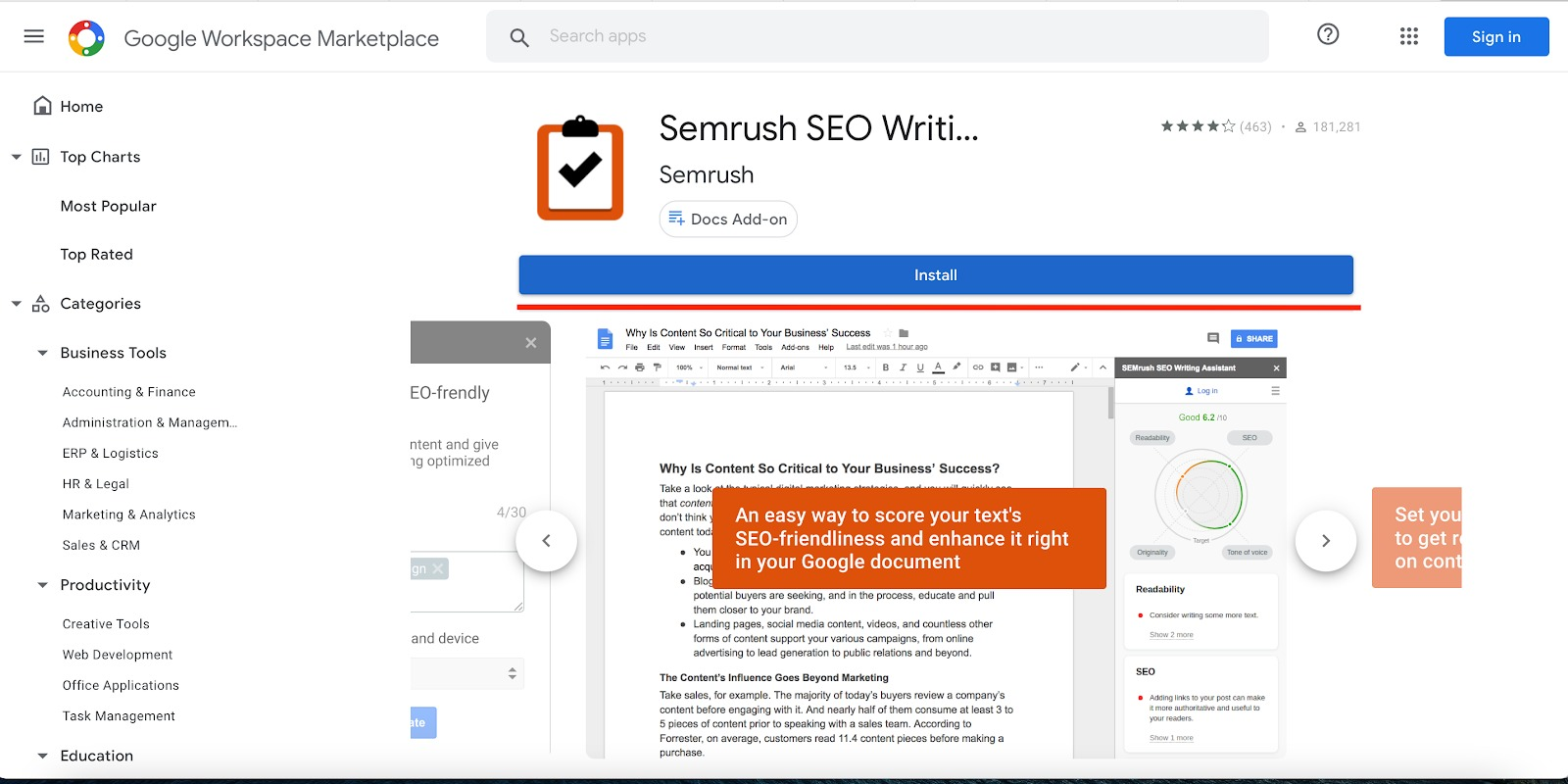 How does sharing work in the SEO Writing Assistant? image 1