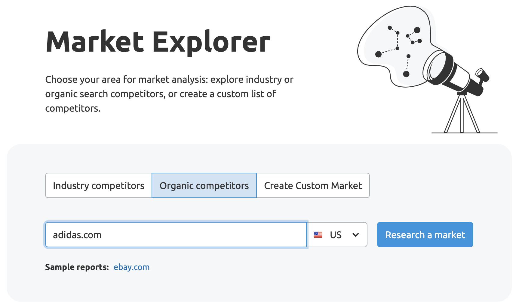 Market Explorer getting started