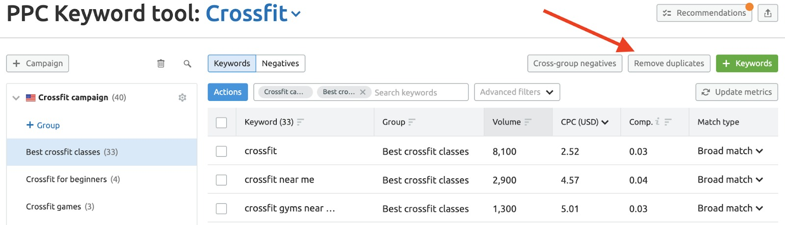 PPC Keyword Tool Recommendations image 7