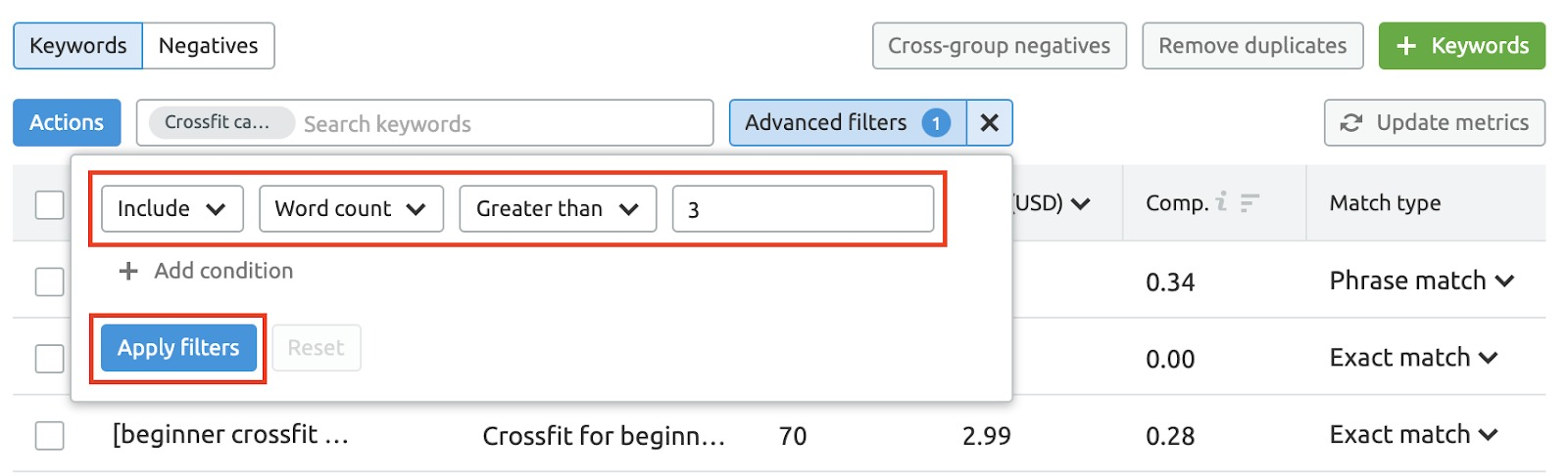 PPC Keyword Tool Recommendations image 11
