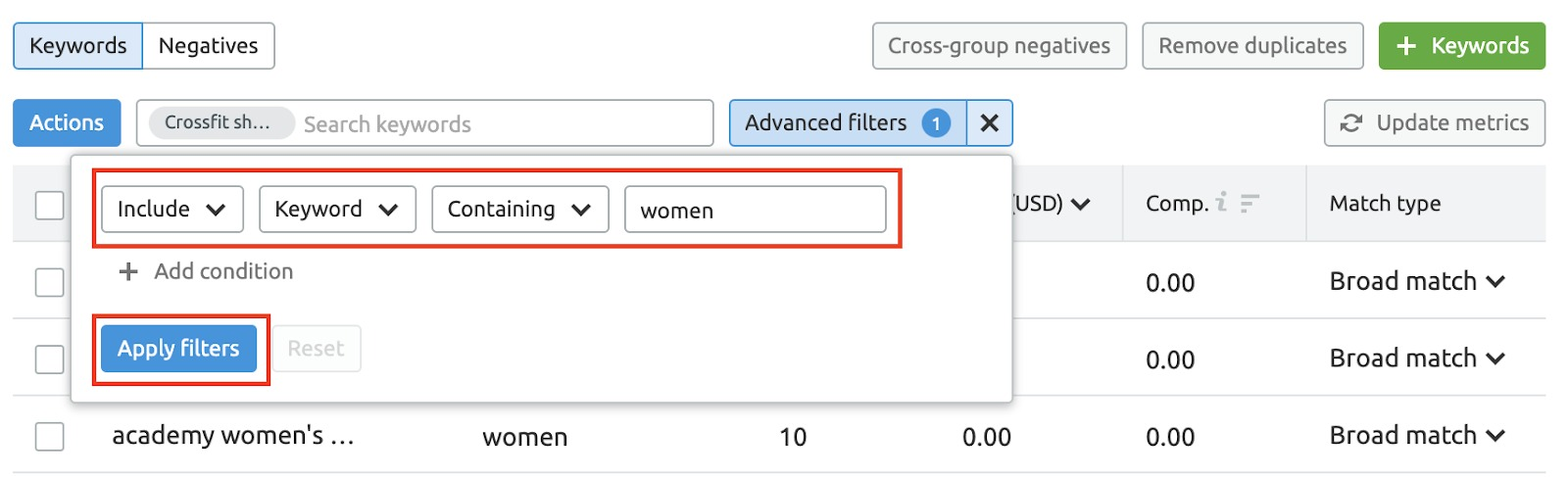 PPC Keyword Tool Recommendations image 12