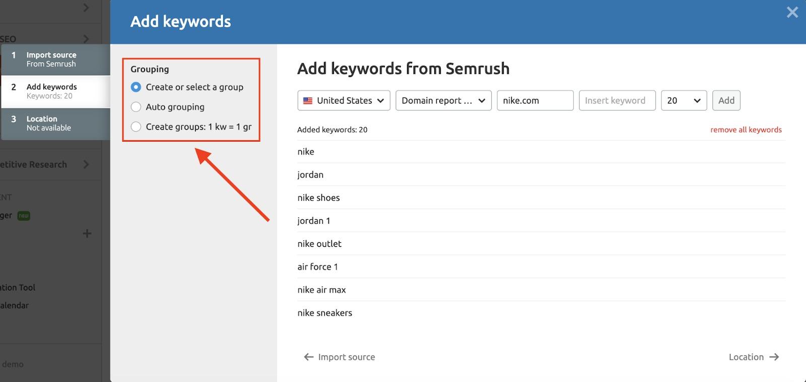 Configuring the PPC Keyword Tool image 4