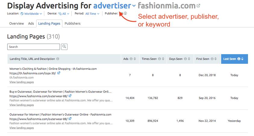 Display Advertising Landing Pages Report image 1