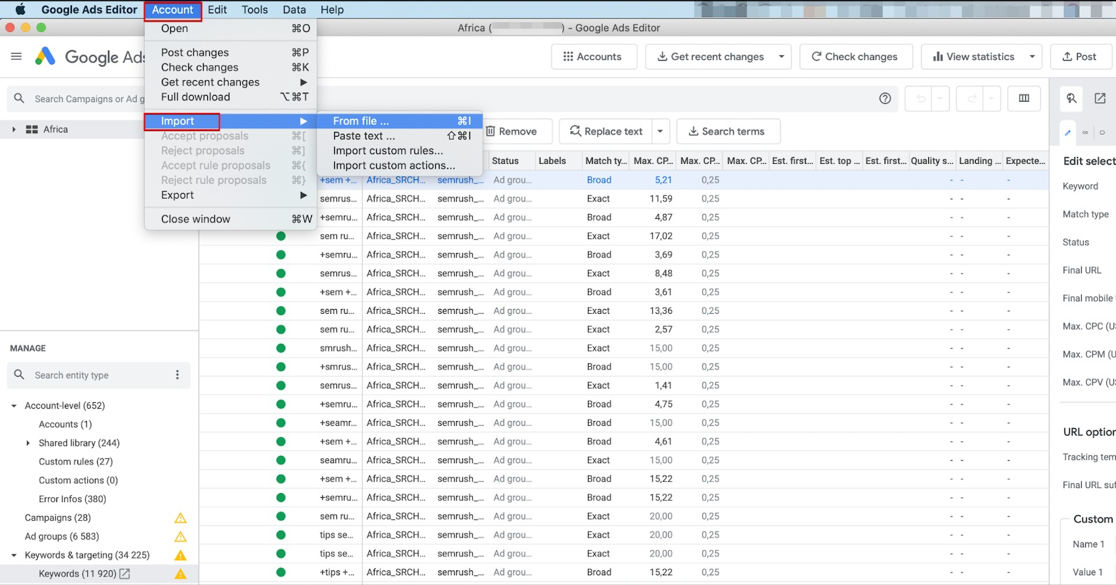 How to Upload Your Keyword List from PPC Keyword Tool to Google Ads image 3